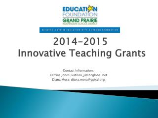 2014-2015  Innovative Teaching Grants