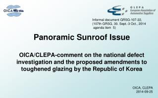 Panoramic Sunroof Issue
