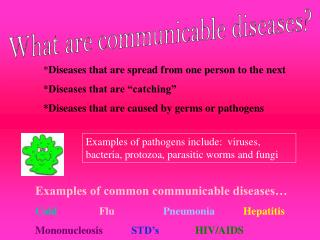 What are communicable diseases?