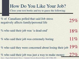 How Do You Like Your Job?