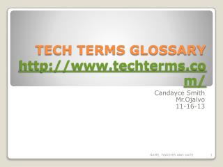 TECH TERMS GLOSSARY techterms/