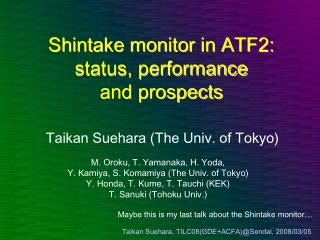 Shintake monitor in ATF2: status, performance and prospects