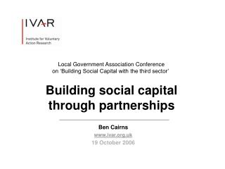 Building social capital through partnerships