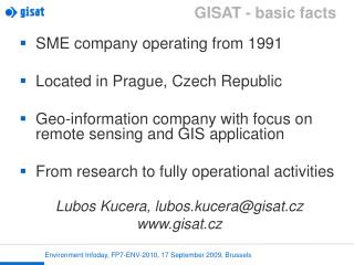 GISAT - basic facts