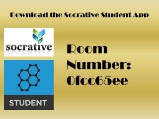 Download the  Socrative  Student App