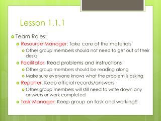 Lesson 1.1.1