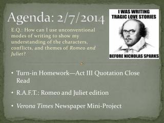 Agenda: 2/7/2014