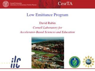 Low Emittance Program