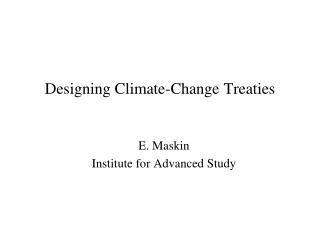 Designing Climate-Change Treaties
