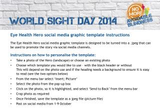 Eye Health Hero  social media graphic template  instructions