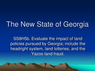 The New State of Georgia