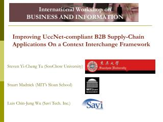 Improving UccNet-compliant B2B Supply-Chain Applications On a Context Interchange Framework