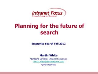 Planning for the future of search