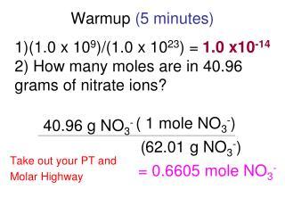 Warmup  (5 minutes)