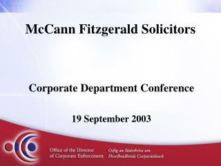 McCann Fitzgerald Solicitors
