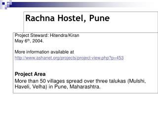 Rachna Hostel, Pune