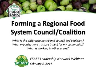 Forming a Regional Food System Council/Coalition