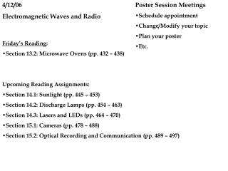 4/12/06 Electromagnetic Waves and Radio