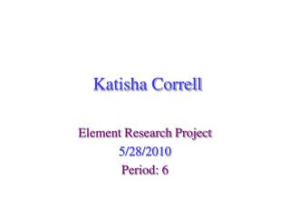 Katisha Correll