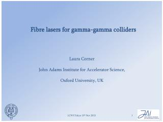 Fibre lasers for gamma-gamma colliders