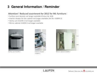 3  General Information / Reminder