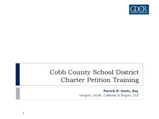 Cobb County School District Charter Petition Training