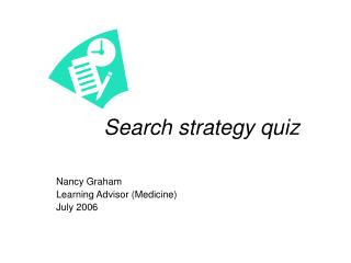 Search strategy quiz