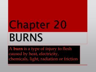 Chapter 20 BURNS