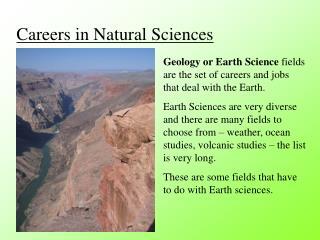 Careers in Natural Sciences