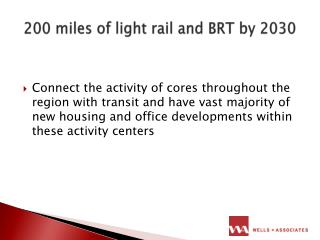 200 miles of light rail and BRT by 2030