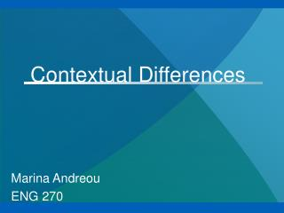 Contextual Differences