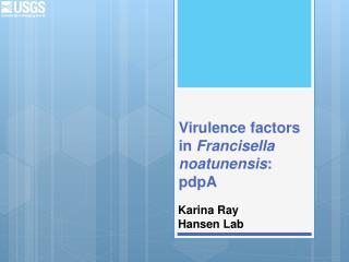 Virulence factors in  Francisella noatunensis : pdpA