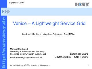Venice – A Lightweight Service Grid