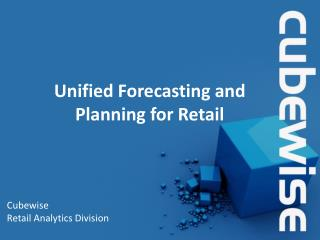 Unified Forecasting and Planning for Retail