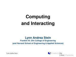 Computing  and Interacting