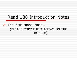 Read 180 Introduction Notes