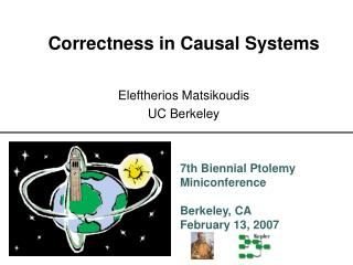 Correctness in Causal Systems