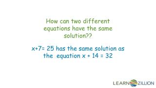 How can two different equations have the same solution??