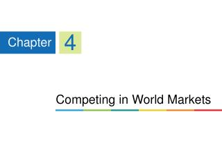 Competing in World Markets