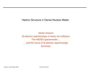 Hadron Structure in Dense Nuclear Matter