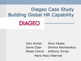 Diageo Case Study Building Global HR Capability