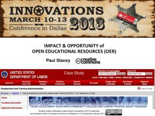IMPACT & OPPORTUNITY of  OPEN EDUCATIONAL RESOURCES (OER)