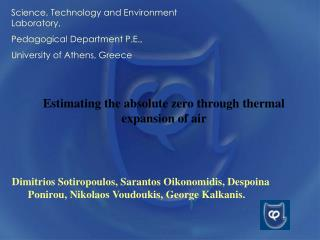 Estimating the absolute zero through thermal expansion of air