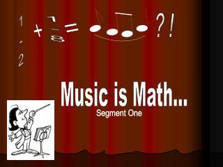 Music is Math...