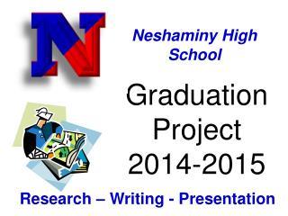 Graduation Project  2014-2015