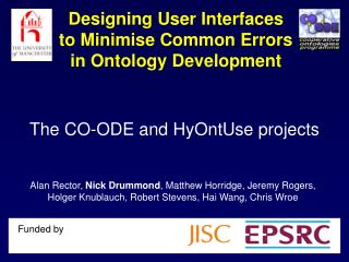 Designing User Interfaces to Minimise Common Errors in Ontology Development