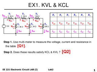 EX1. KVL & KCL