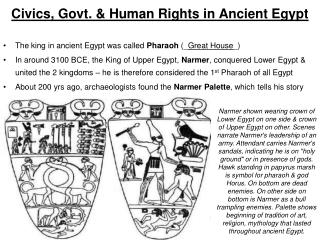 Civics, Govt. & Human Rights in Ancient Egypt
