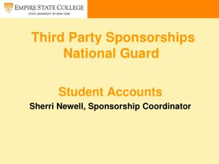 Third Party Sponsorships  National Guard