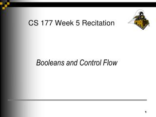 CS 177 Week 5 Recitation